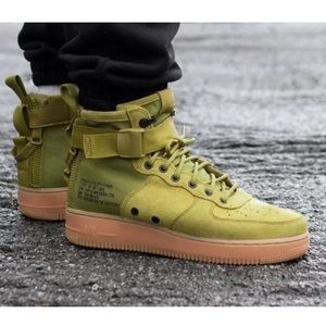 NEW Nike SF AF1 Mid Sneakers, Desert Moss